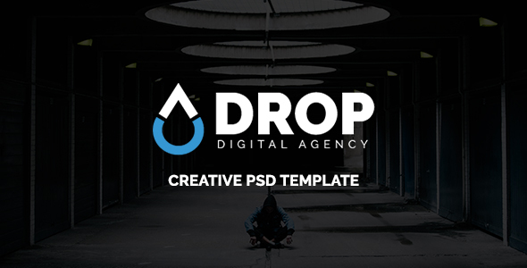 ThemeForest Drop Digital Agency PSD Template 21059754