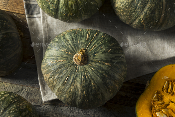 Raw Green Organic Kabocha Squash - Stock Photo - Images