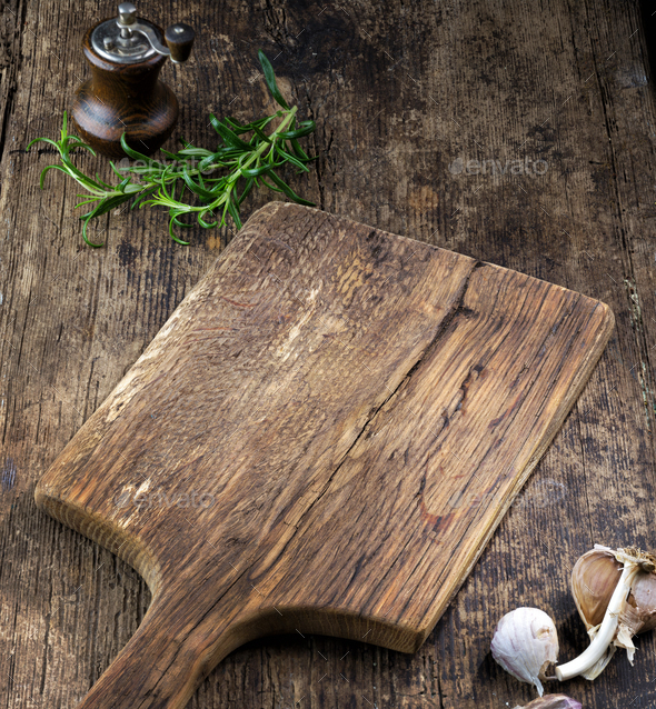 empty wooden cutting board - Stock Photo - Images