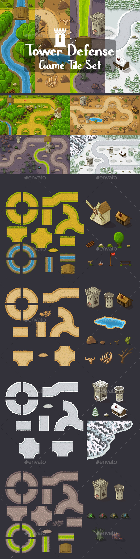 GraphicRiver Tower Defense Tile Sets 21135093