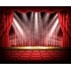Red Curtain and Empty Theatrical Scene - GraphicRiver Item for Sale