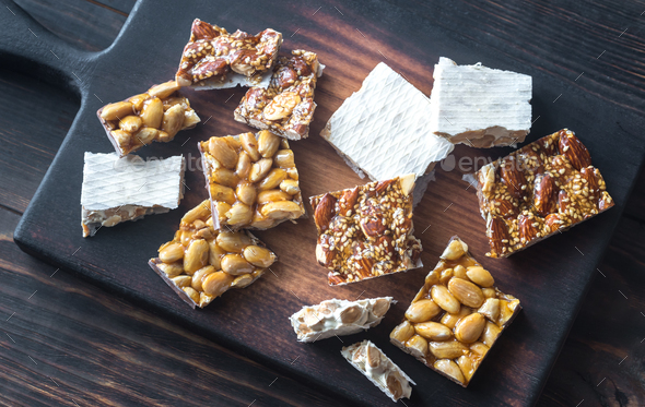 Slices of turron - Stock Photo - Images
