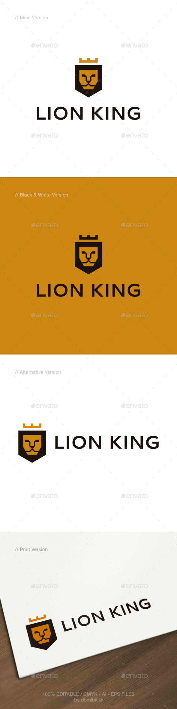 GraphicRiver Lion King Logo 21135314