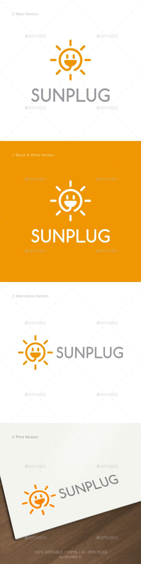 GraphicRiver Sun Plug Logo 21135376