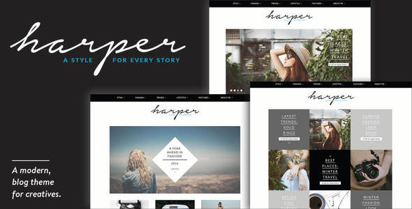 Harper - A Blog Theme for WordPress - Blog / Magazine WordPress