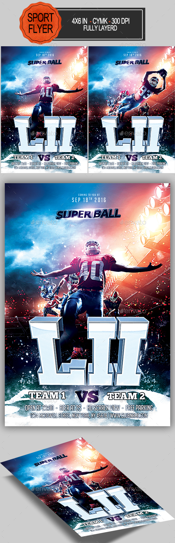 GraphicRiver Football Super Ball Flyer 21134304
