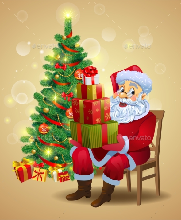 GraphicRiver Santa Claus with Gifts 21135445