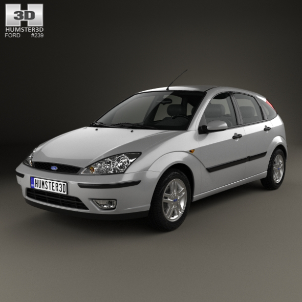 3DOcean Ford Focus 5-door hatchback 2002 21135611