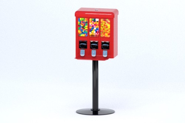 Arcade Candy Dispenser - 3DOcean Item for Sale