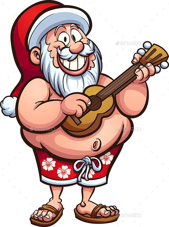 Tropical Santa - Christmas Seasons/Holidays