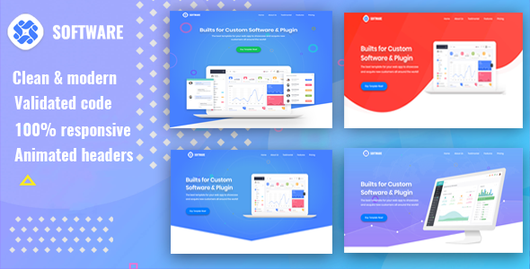 ThemeForest Software SaaS Software & WebApp Template 21135772