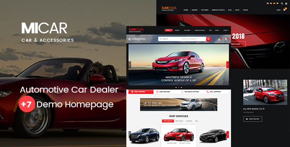 Image of Micar -  Auto Dealer RTL WooCommerce WordPress Theme
