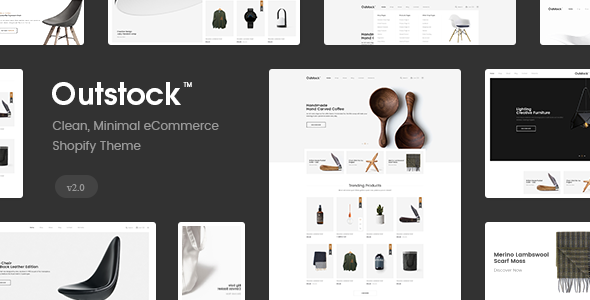 Shopify  - Outstock  Clean, Minimal , Drag & Drop Free Download | Nulled