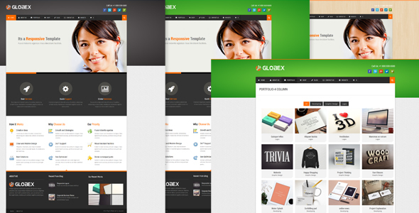 Globex - WordPress theme for Human Resource - Photography Creative