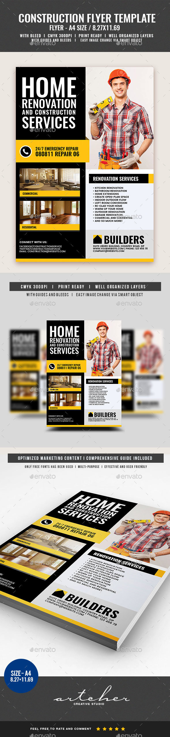 Construction and Building Flyer - Corporate Flyers