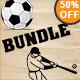 Football & Baseball Vintage Logo Bundle