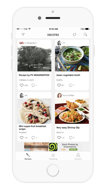 Recipes ios universal social recipes app template swift by cubycode 01g forumfinder Images