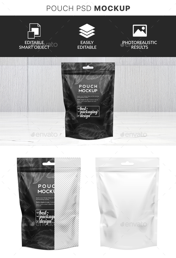 GraphicRiver Pouch Bag with Hanger Mockup 21136007