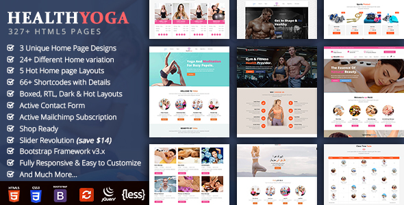 Health Yoga - Spa Yoga Gym Fitness - Health & Beauty Retail
