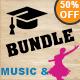 University & Dance With Music Vintage Labels Bundle