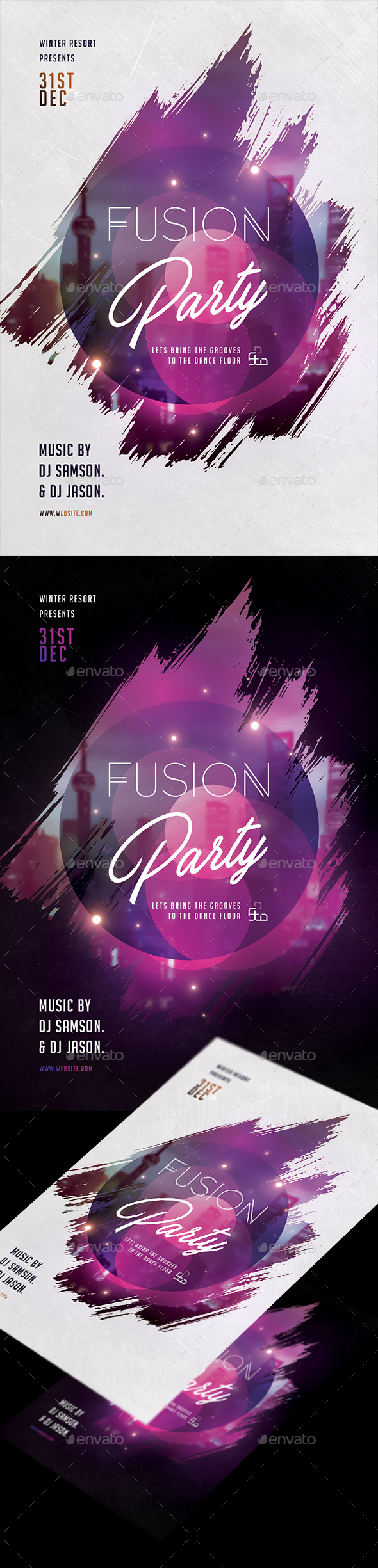 GraphicRiver Fusion Party Flyer 21136246