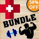 Health & Gym Fitness Vintage Logo Bundle - GraphicRiver Item for Sale