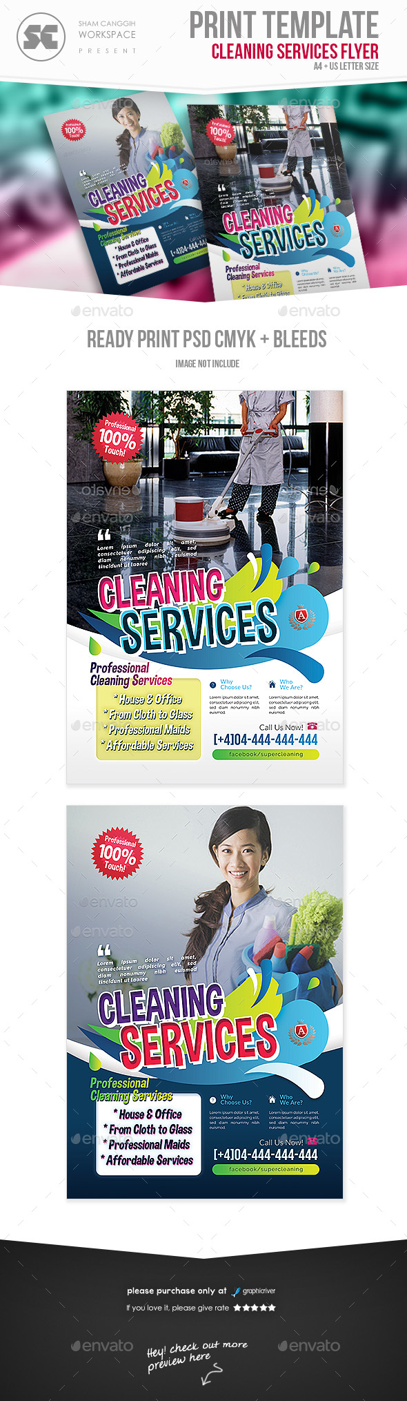 Multipurpose Cleaning Services Flyer - Miscellaneous Events