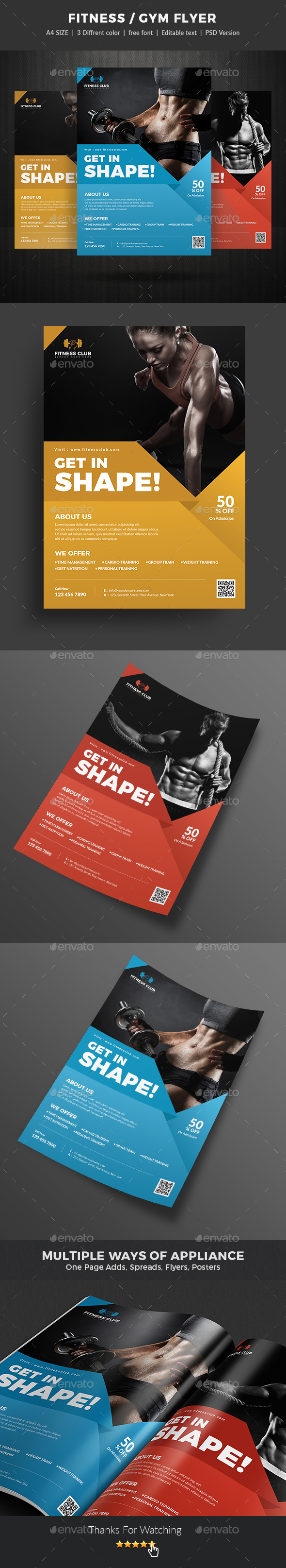 GraphicRiver Fitness Flyer 21136452