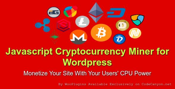 JCMW - Javascript Cryptocurrency Miner for Wordpress