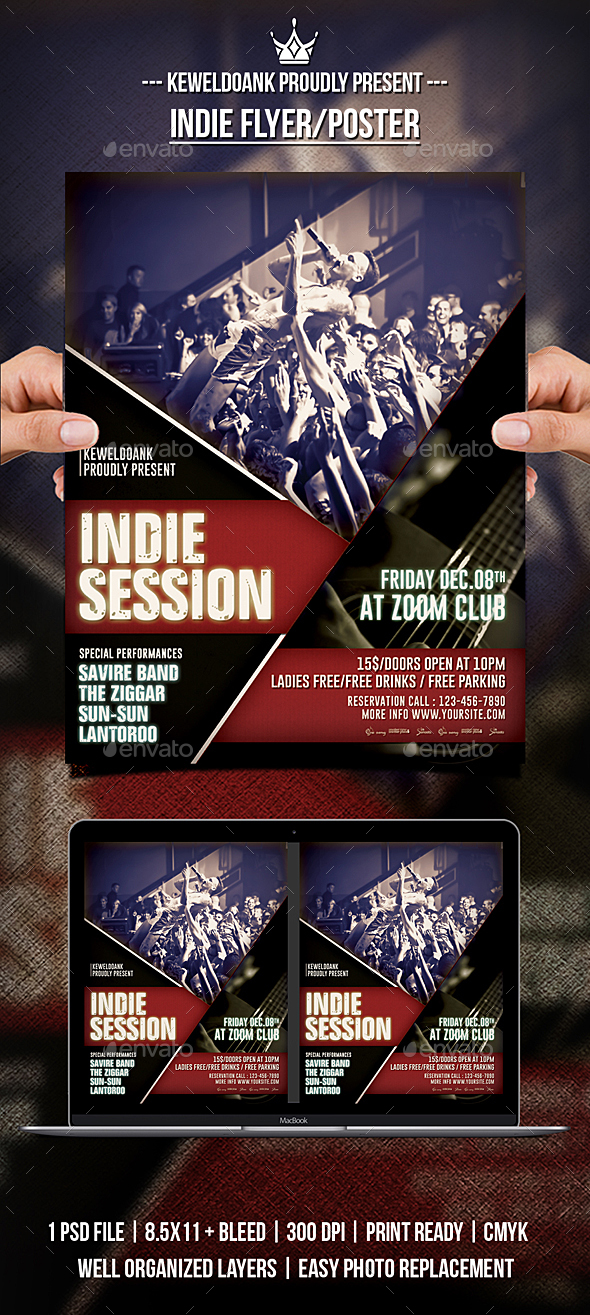 GraphicRiver Indie Flyer Poster 21136638