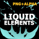 Hand Drawn Liquid Elements And Transitions - VideoHive Item for Sale
