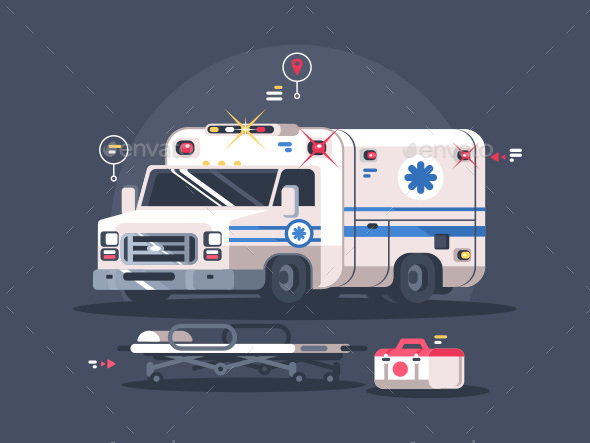 GraphicRiver Ambulance Car with Flasher 21136717