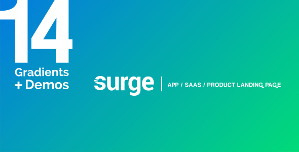 Surge - App / SAAS /  Software / Product Template