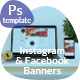 Instagram & Facebook Banners - GraphicRiver Item for Sale