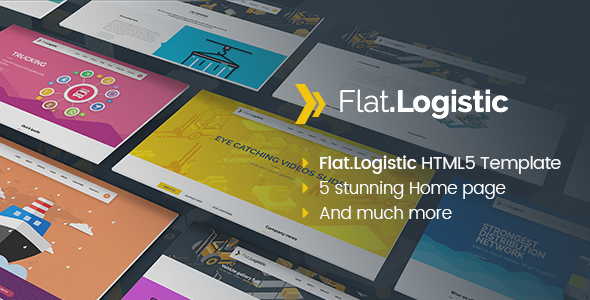 Flat Logistic - SEO, Social Media & Multipurpose HTML5 Template