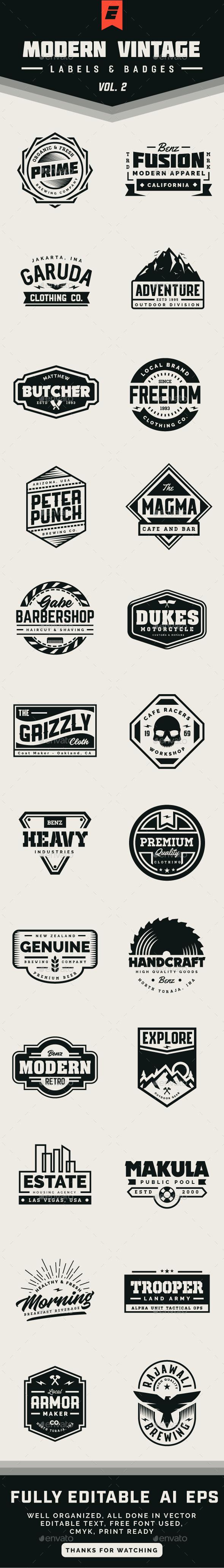 GraphicRiver Modern Vintage Label and Badges Vol 2 21136872