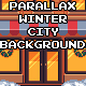 Parallax Winter City Background - GraphicRiver Item for Sale
