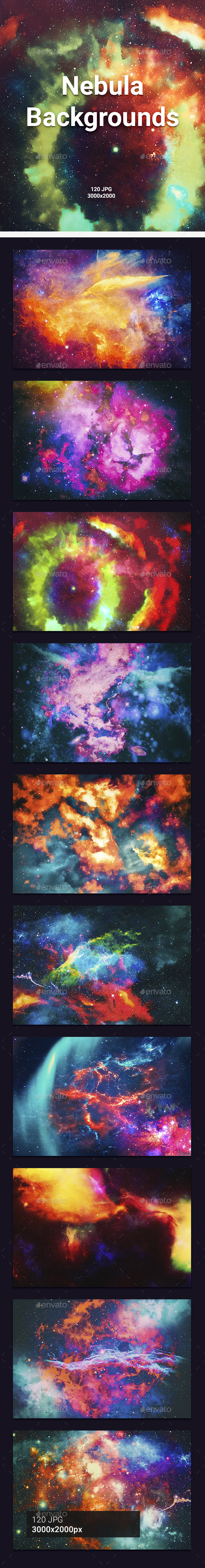 GraphicRiver 120 Space Backgrounds 21137033