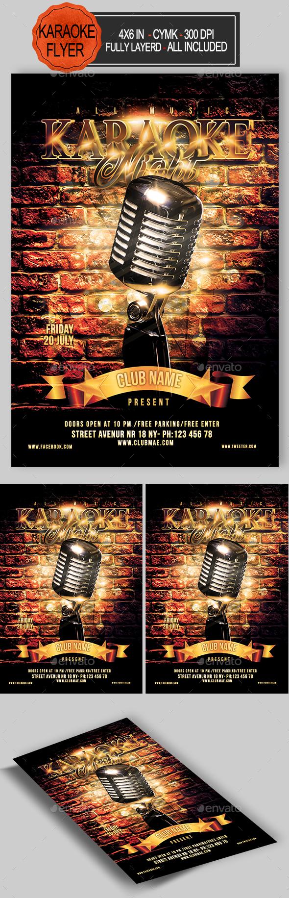 GraphicRiver Karaoke Flyer 21137171