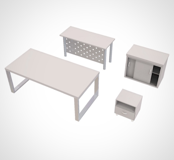 minimalist Table and Cabinet - 3DOcean Item for Sale