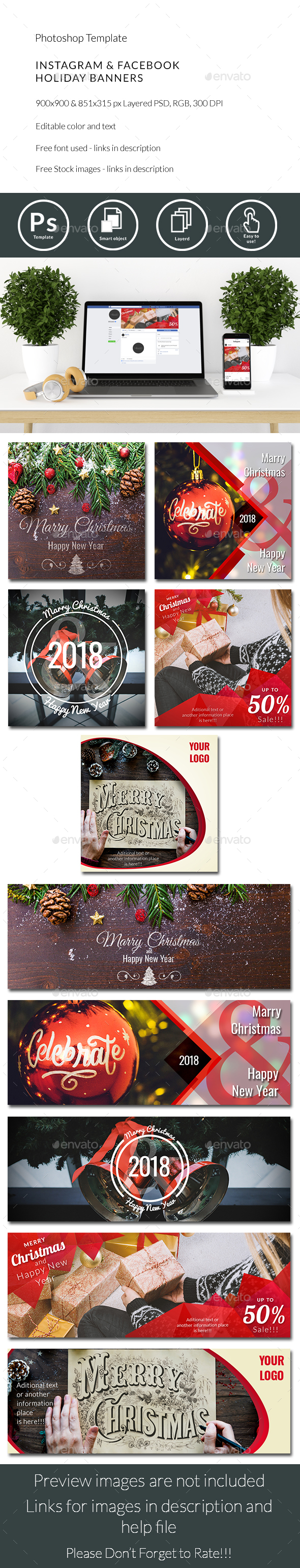 GraphicRiver Instagram & Facebook Banners 21136750