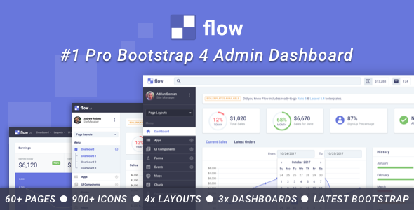 Image of Flow Pro - Bootstrap 4 Admin Dashboard