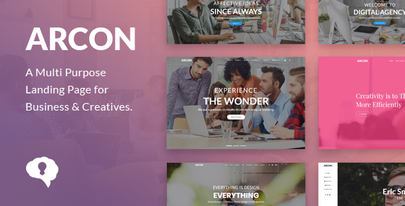 ThemeForest Arcon Studio Multi Purpose Marketing Landing Page Template 21072800