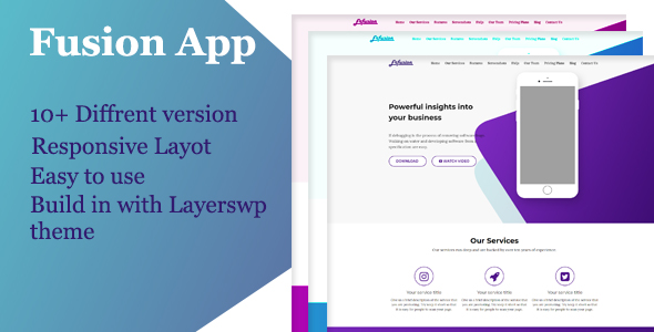 Fusion App - Layers WordPress Style Kit - CodeCanyon Item for Sale