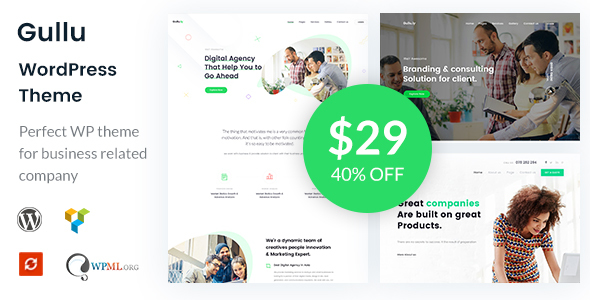 Image of Gullu - Creative Digital Agency & Multipurpose WordPress Theme