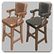 Rustic Bar Stool 01 - 3DOcean Item for Sale