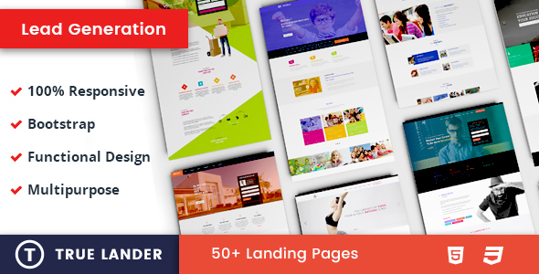 ThemeForest TrueLander Lead Generation Landing Pages 21137437