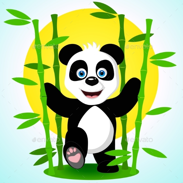 GraphicRiver Panda Among the Bamboo 21137443