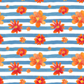 Watercolor seamless pattern with flowers - PhotoDune Item for Sale