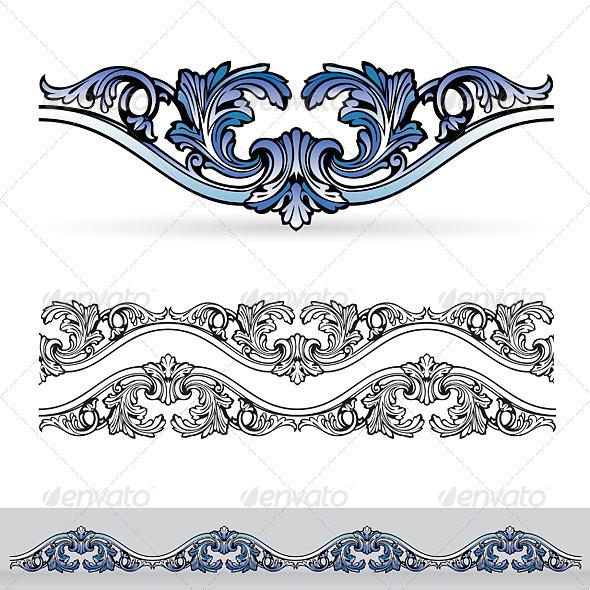 Abstract flora design element. - Characters Vectors